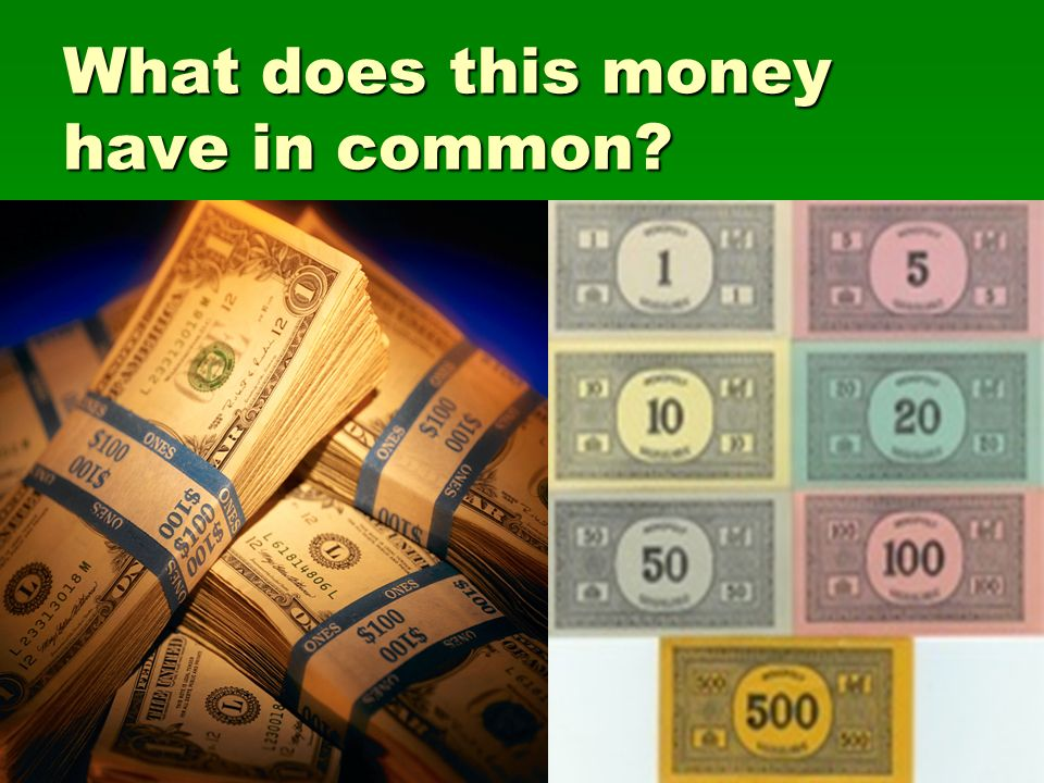What does this money have in common
