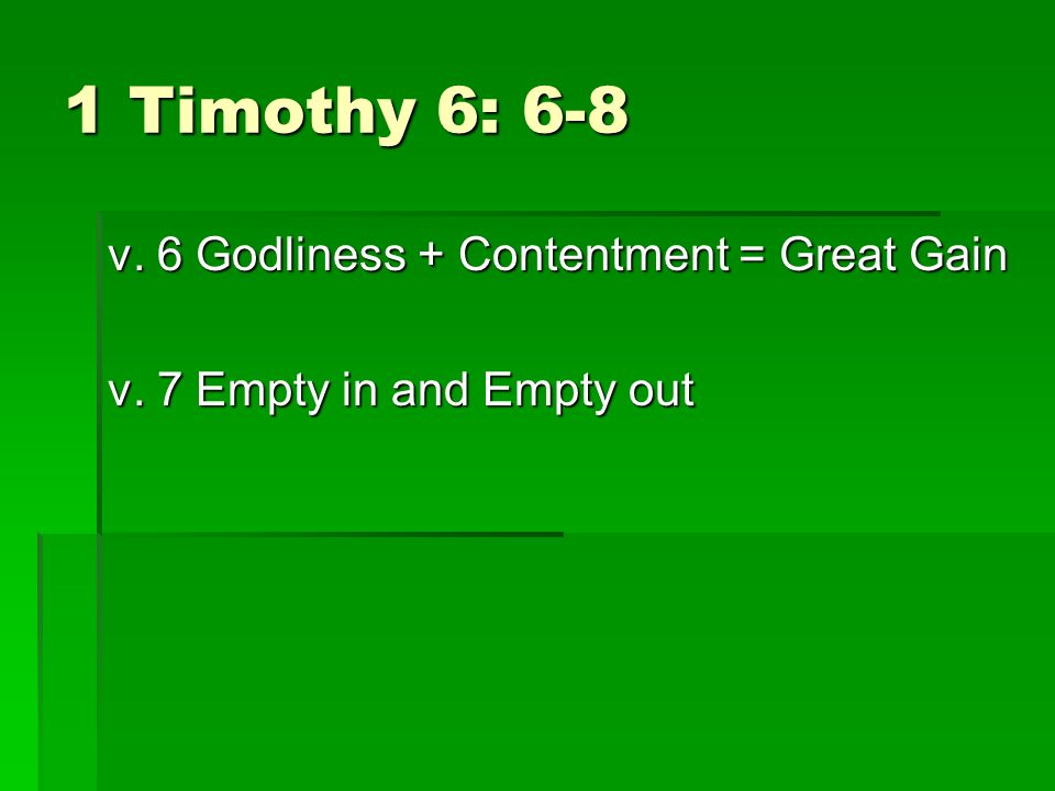 I Timothy 6: 9-10 Trust and security connection.Trust and security connection.