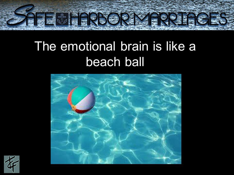 The emotional brain is like a beach ball