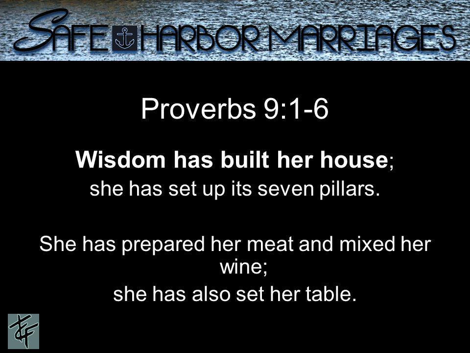 Proverbs 9:1-6 Wisdom has built her house ; she has set up its seven pillars.