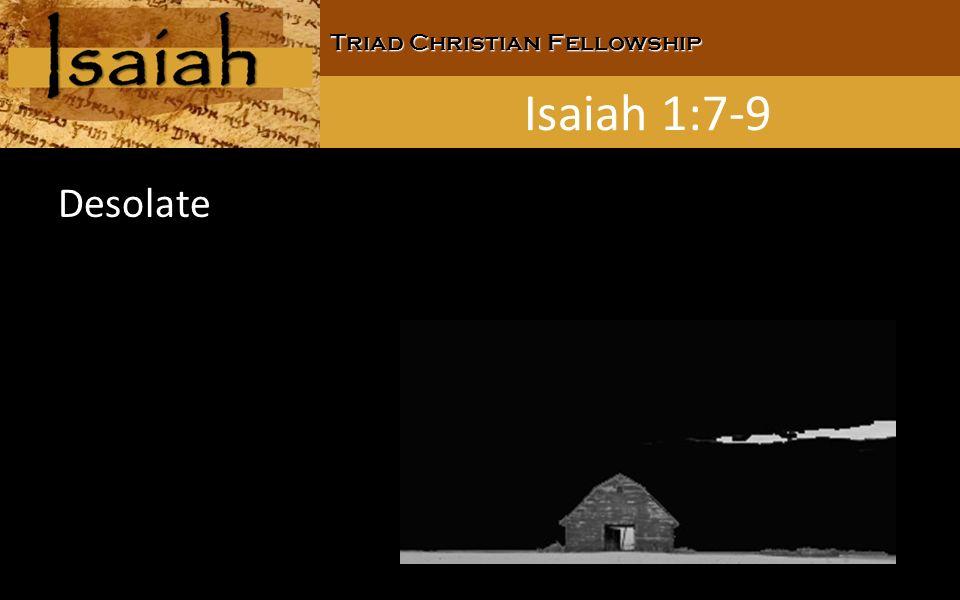 Triad Christian Fellowship Isaiah 1:7-9 Desolate