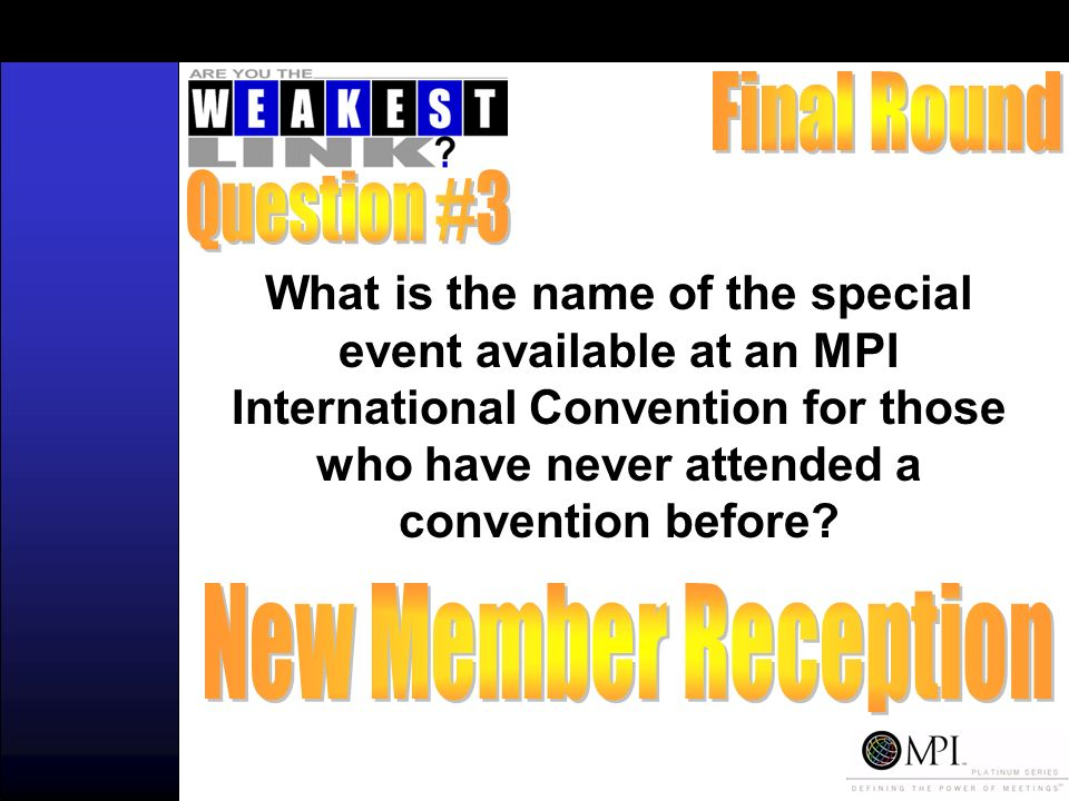 What is the name of the special event available at an MPI International Convention for those who have never attended a convention before?
