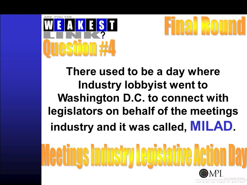 There used to be a day where Industry lobbyist went to Washington D.C.