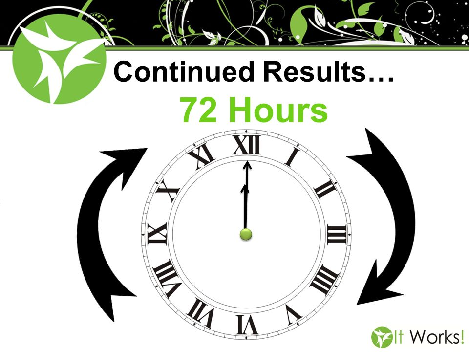 Continued Results… 72 Hours