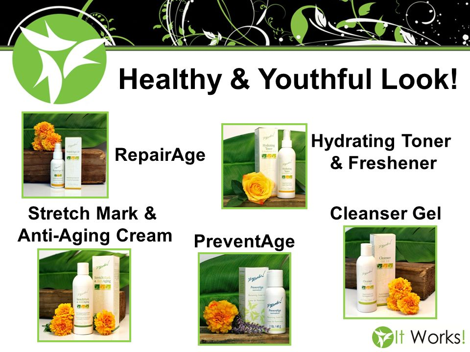 Healthy & Youthful Look! RepairAge PreventAge Cleanser Gel Hydrating Toner & Freshener Stretch Mark & Anti-Aging Cream