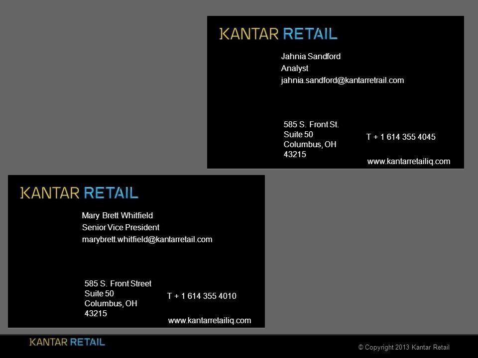 © Copyright 2013 Kantar Retail 585 S. Front St. Suite 50 Columbus, OH 43215 www.kantarretailiq.com 585 S. Front Street Suite 50 Columbus, OH 43215 www