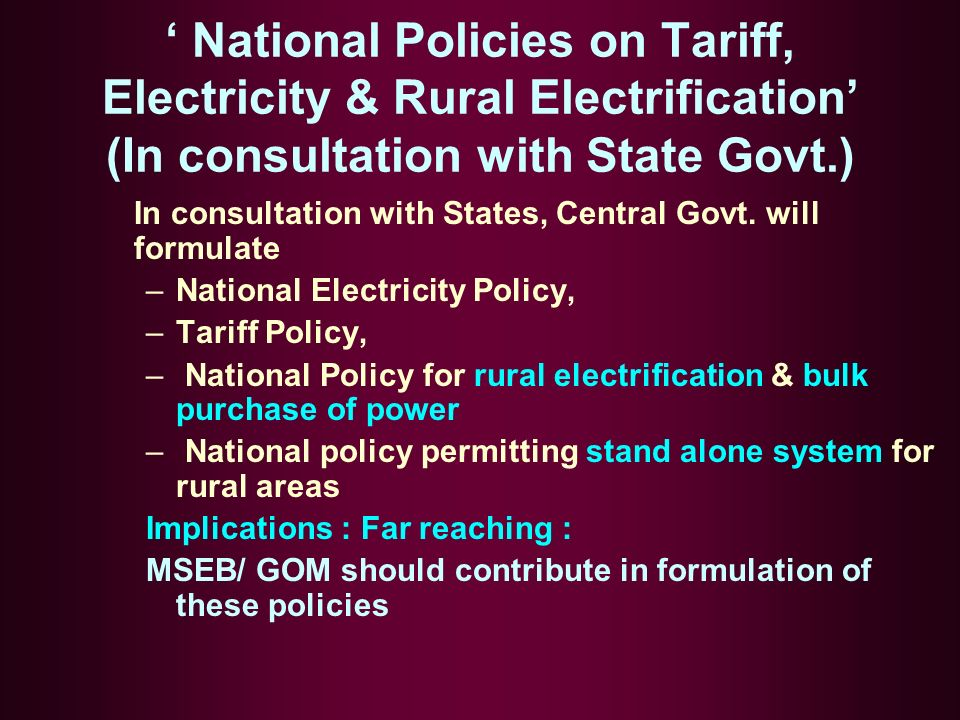 In consultation with States, Central Govt.