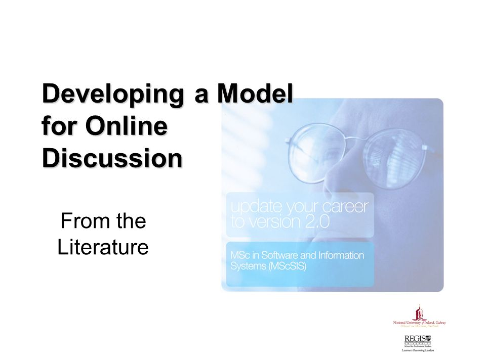 Developing a Model for Online Discussion From the Literature