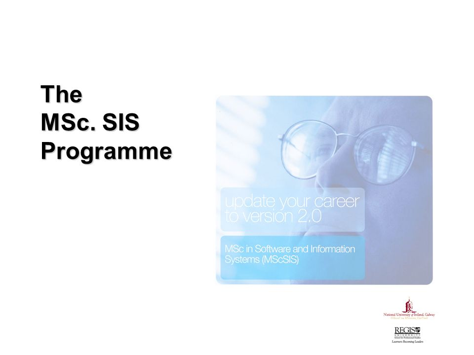 The MSc. SIS Programme