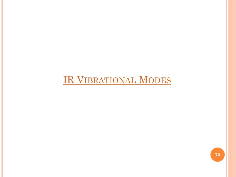 IR V IBRATIONAL M ODES 15