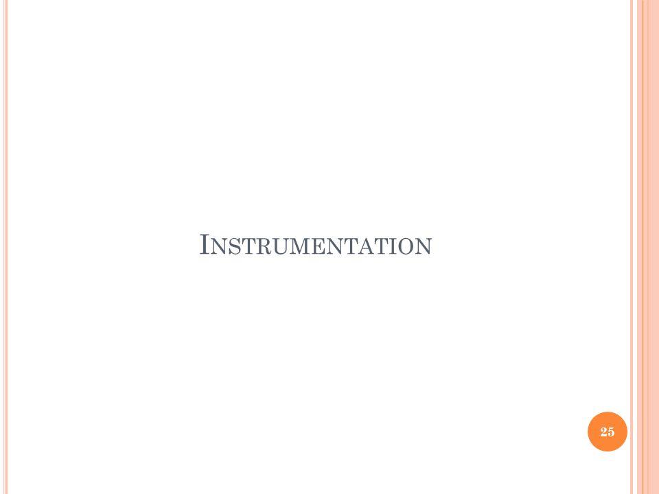I NSTRUMENTATION 25
