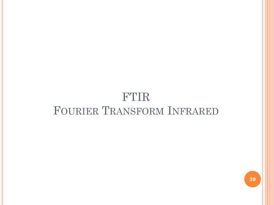 FTIR F OURIER T RANSFORM I NFRARED 30