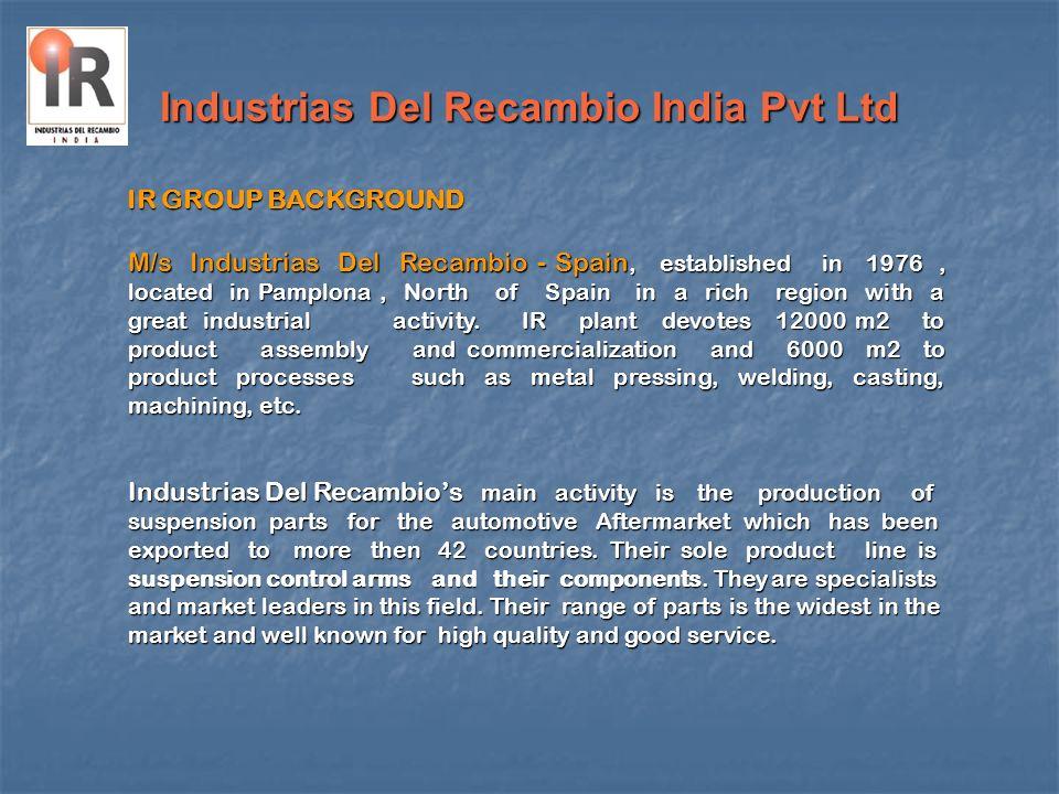 Industrias Del Recambio India Pvt Ltd M/s Industrias Del Recambio - Spain