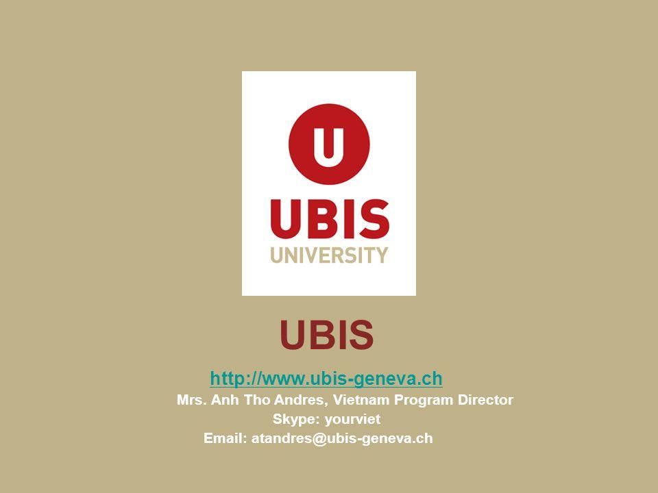 UBIS http://www.ubis-geneva.ch Mrs.