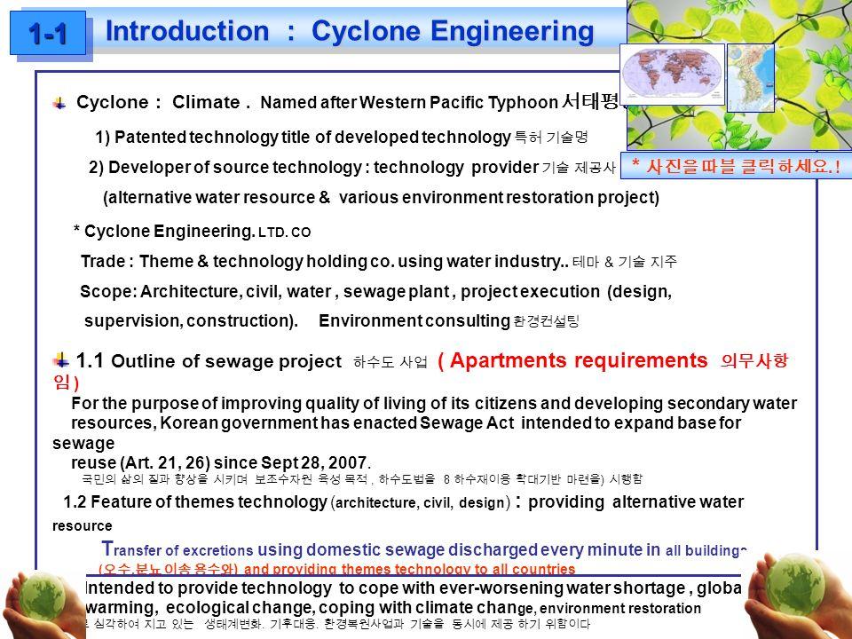 Introduction : Cyclone Engineering 1-11-1 BIZMAKE Cyclone : Climate.