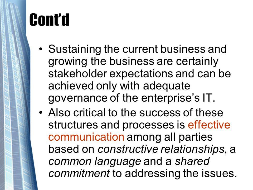 Strategic Alignment Domains Henderson & Venkatraman mengatakan ada 4 model bagaimana alignment tersebut dapat dicapai: 1.Strategic execution alignment 2.Technology transformation alignment 3.Competitive potential alignment 4.Service level alignment