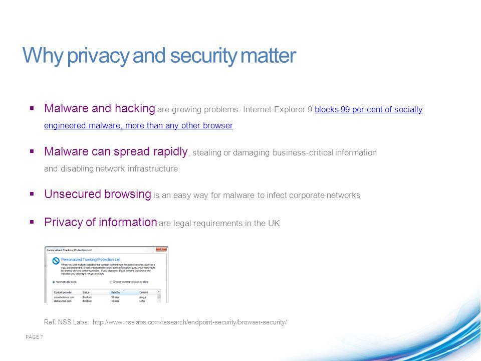 How does Internet Explorer 9 improve privacy.