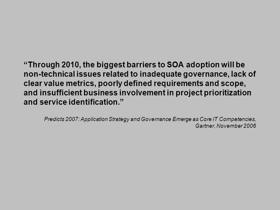 SOA - Aligning Business and IT.