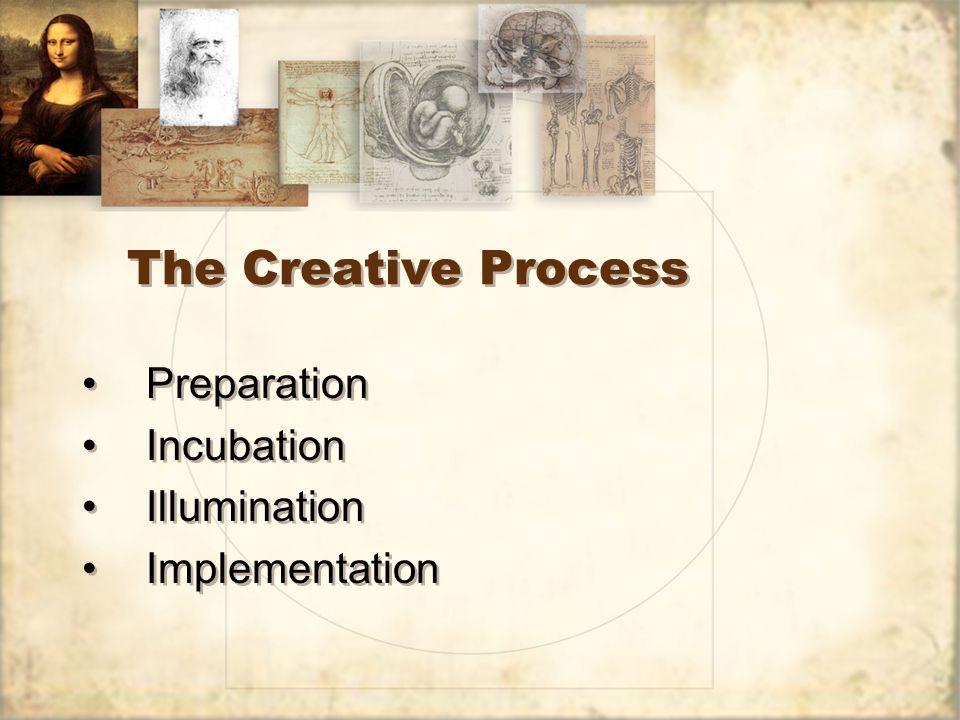 The Creative Process Preparation Incubation Illumination Implementation Preparation Incubation Illumination Implementation