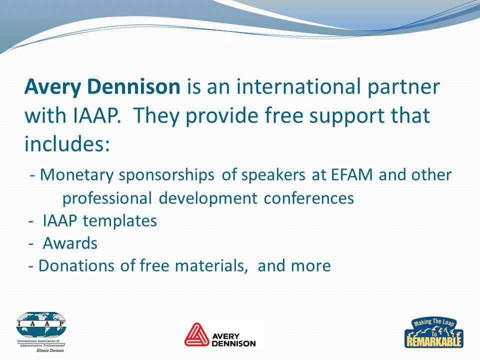 Avery Dennison is an international partner with IAAP.
