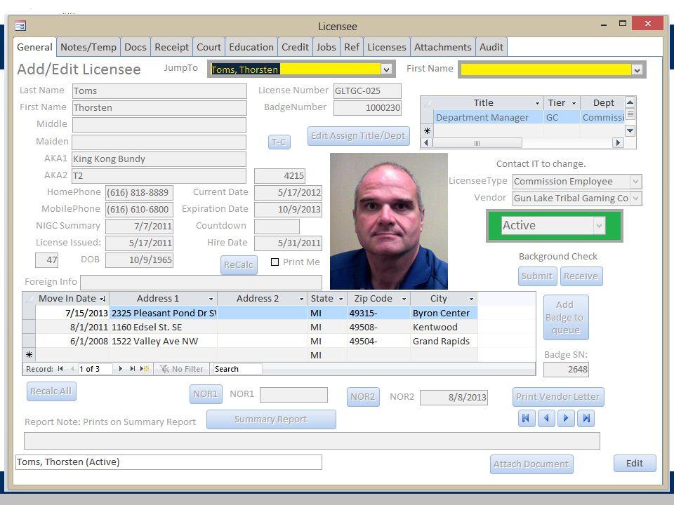 Licensing Database 48
