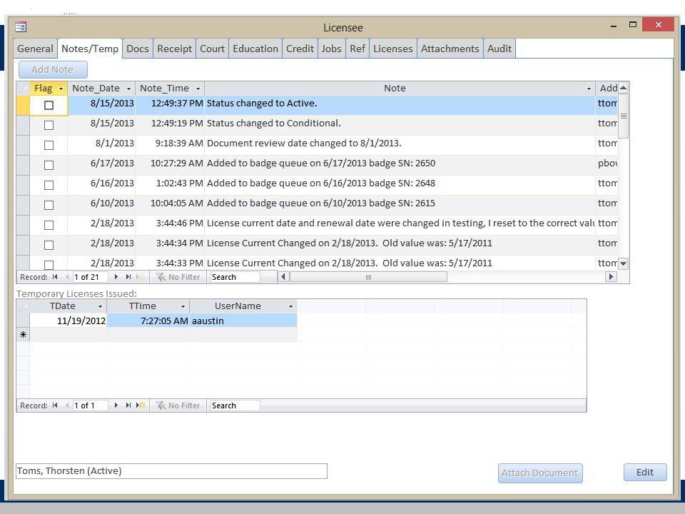 Licensing Database 52