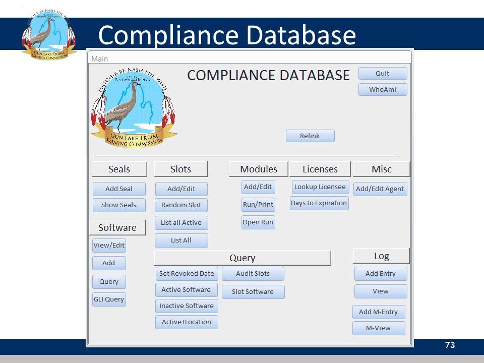 Compliance Database 73
