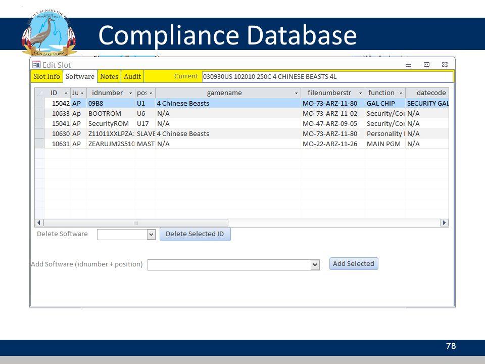 Compliance Database 78