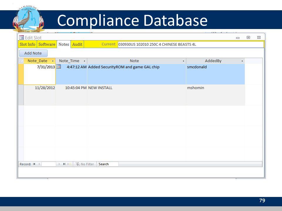 Compliance Database 79