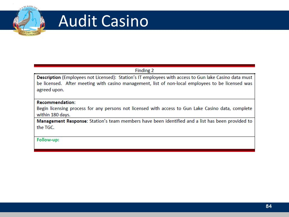 Audit Casino 84