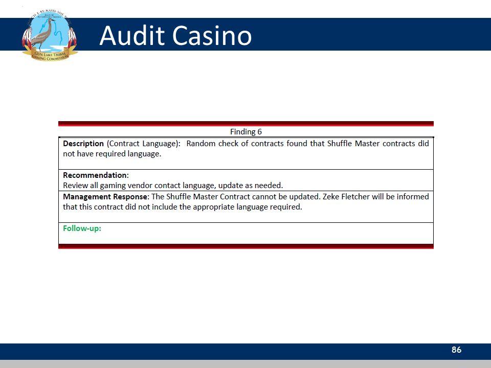 Audit Casino 86