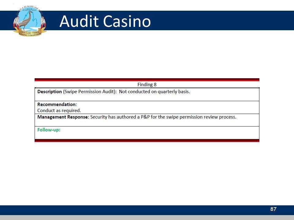 Audit Casino 87