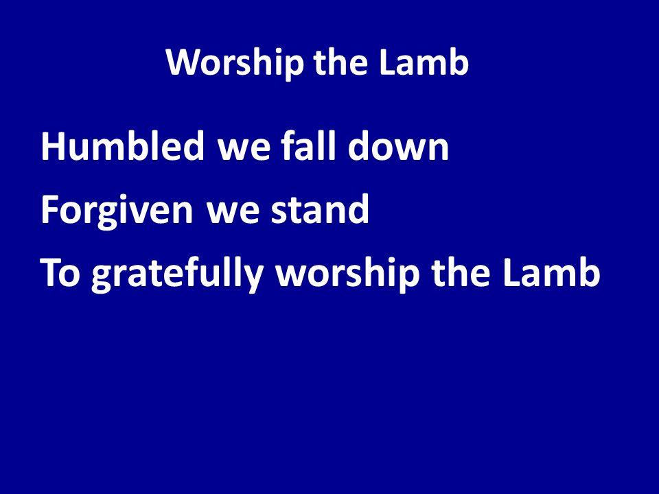 Worship the Lamb Humbled we fall down Forgiven we stand To gratefully worship the Lamb