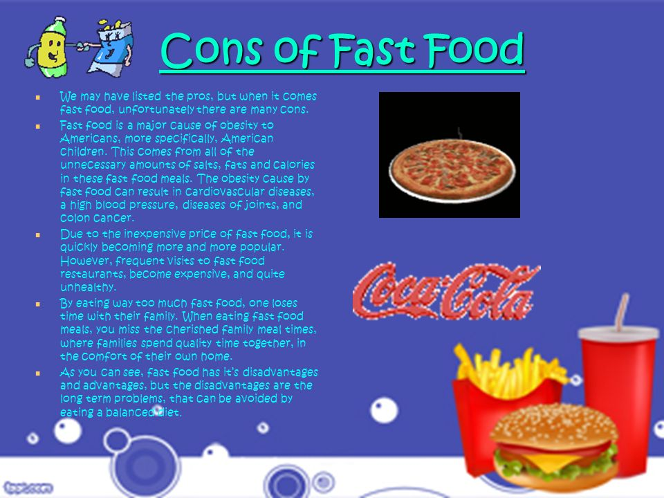 This slide shows statistics of fast food consumption, and obesity rates around the world.