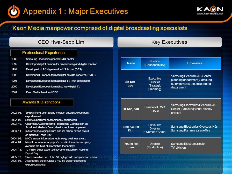 4. 2006 business plan Broadcasting business market penetration as digital broadcasting expands throughout the world Broadcasting business market penet