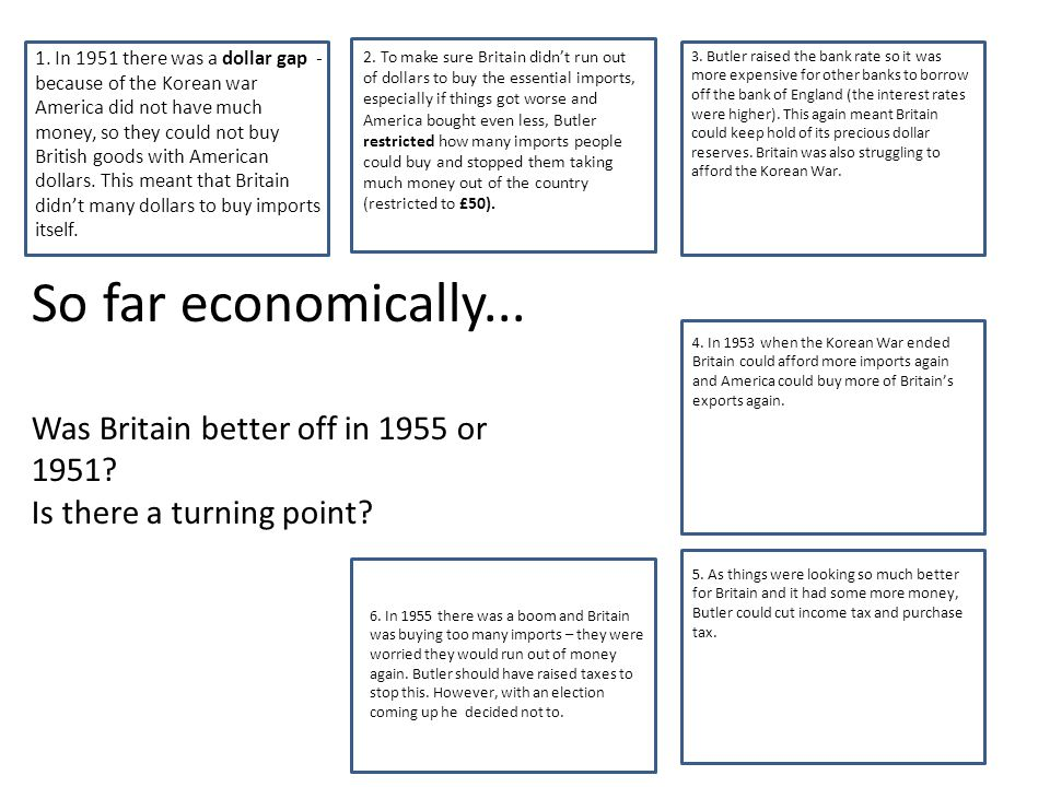 v So far economically... Was Britain better off in 1955 or