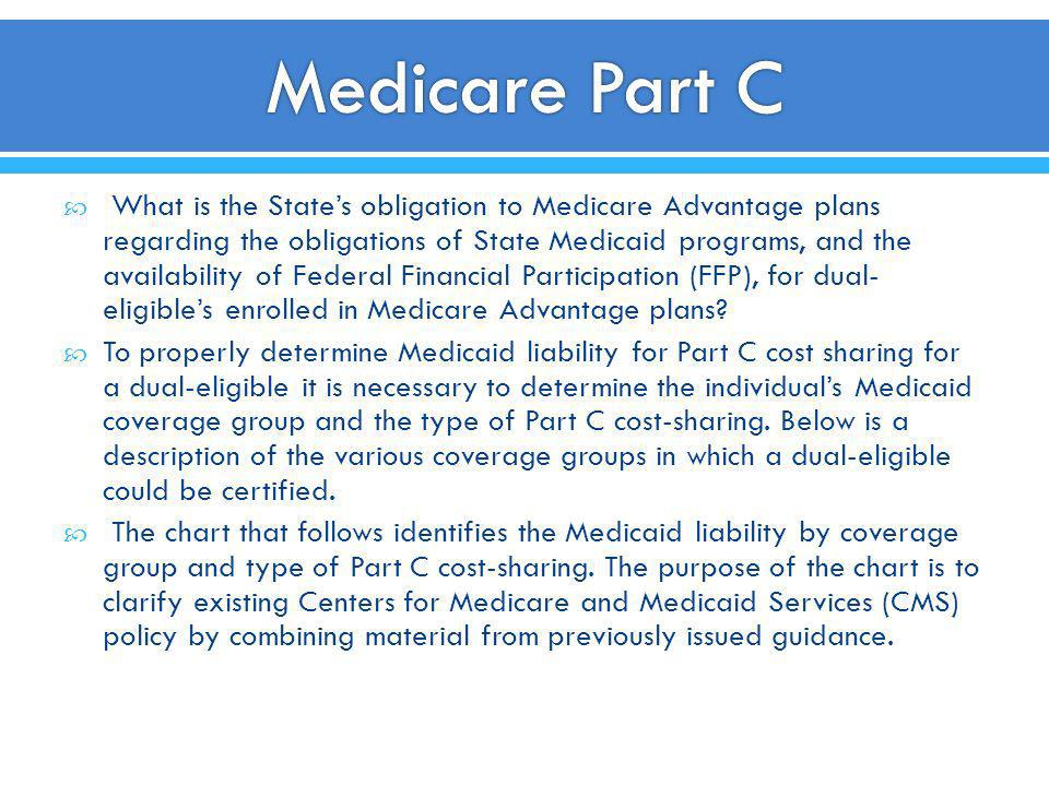 What is the States obligation to Medicare Advantage plans regarding the obligations of State Medicaid programs, and the availability of Federal Financ