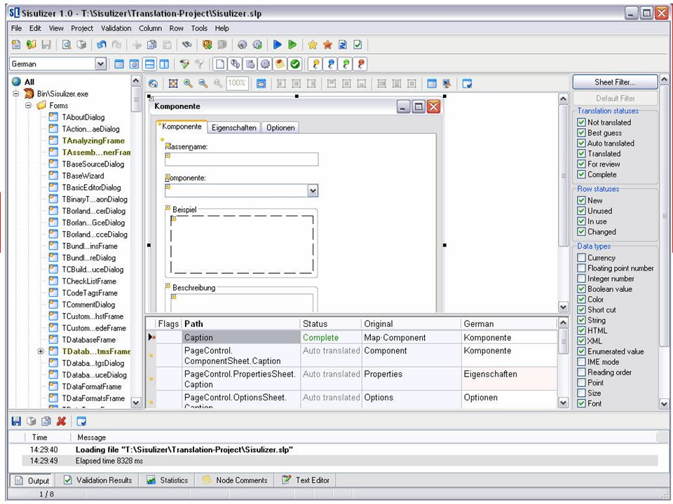 SISULIZER – a screenshot
