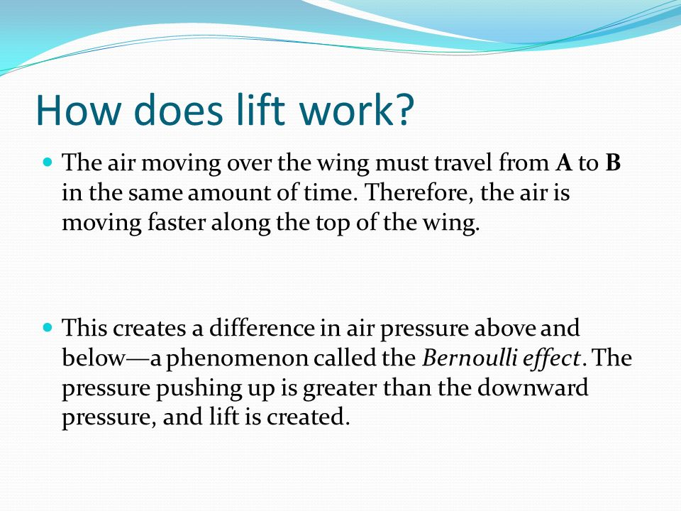 How does lift work.
