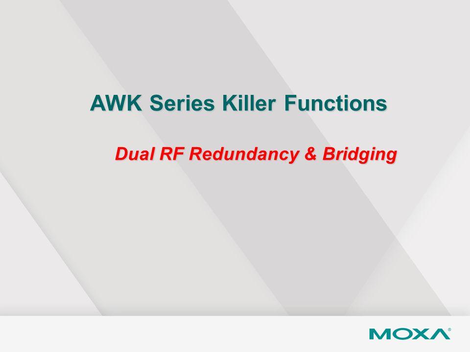 AWK Series Killer Functions Dual RF Redundancy & Bridging