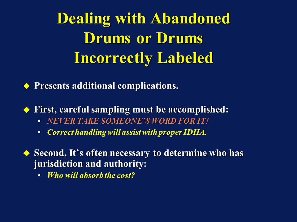 Presents additional complications. Presents additional complications. First, careful sampling must be accomplished: First, careful sampling must be ac