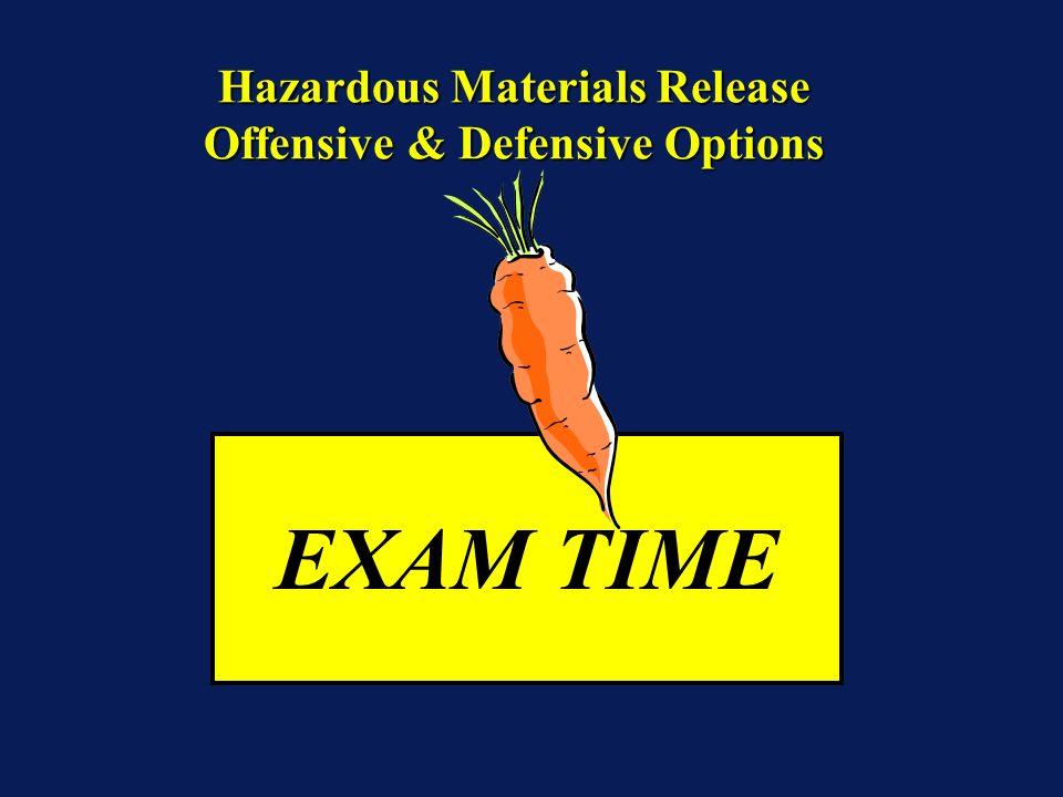EXAM TIME Hazardous Materials Release Offensive & Defensive Options