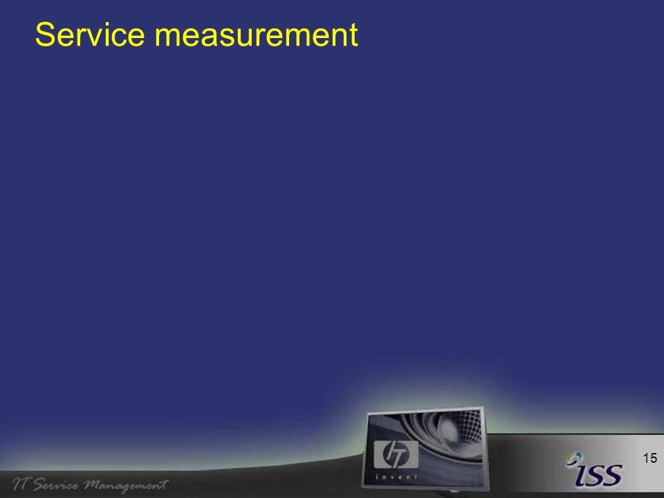 15 Service measurement