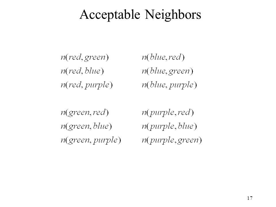 17 Acceptable Neighbors