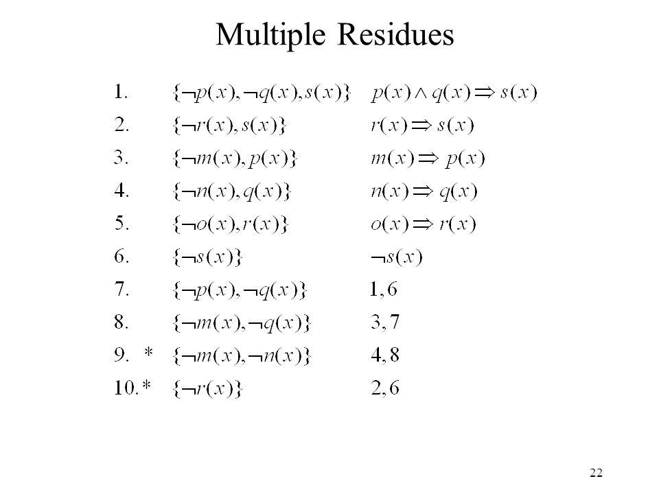 22 Multiple Residues
