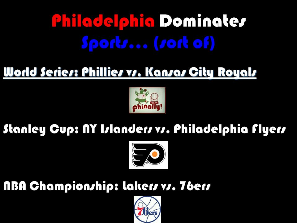 Philadelphia Dominates Sports… (sort of) World Series: Phillies vs.