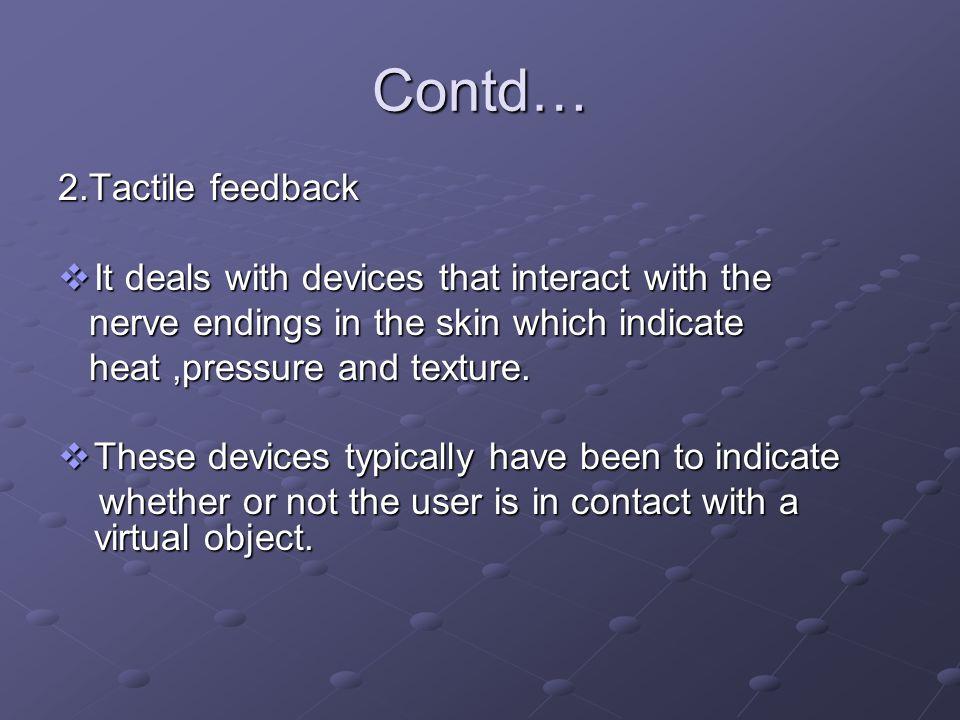 Force feedback display Tactile feedback