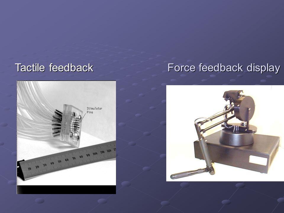 Haptic interaction Haptic interaction uses haptic interfaces.