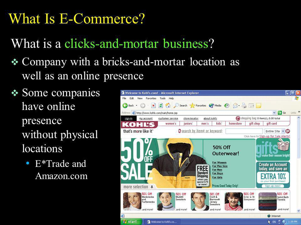 Other E-Commerce Market Sectors on the Web What is online banking.