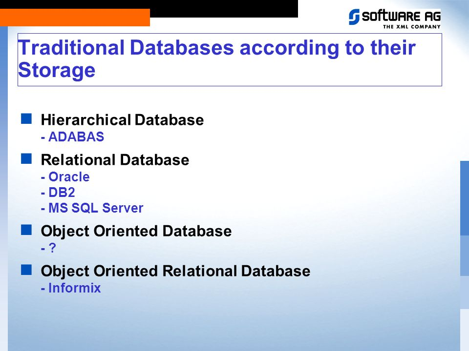 Traditional databases and their limits